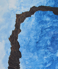 Painting arch in blue