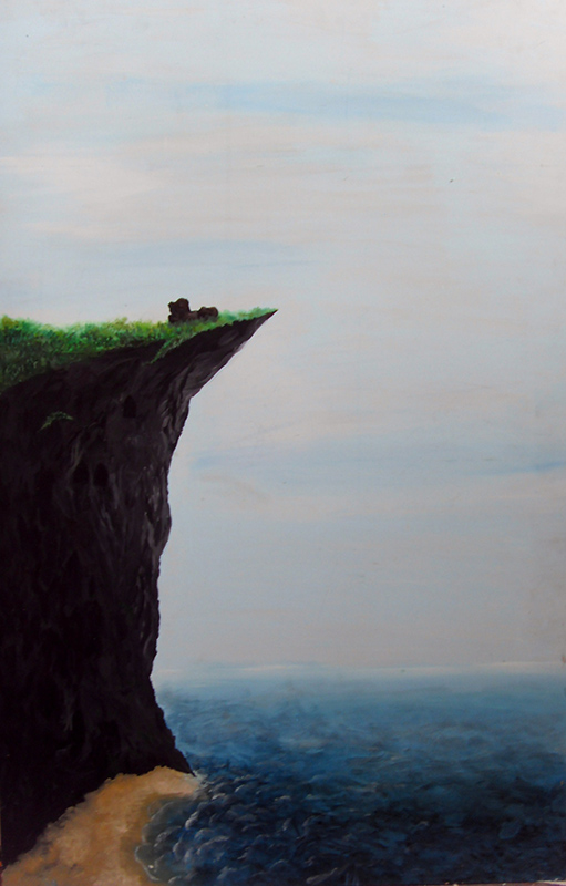 Cliff, painting
